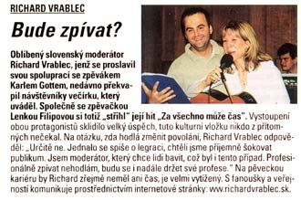 Časopis Katka, č.: 51/8.roč.: Bude zpívat?
