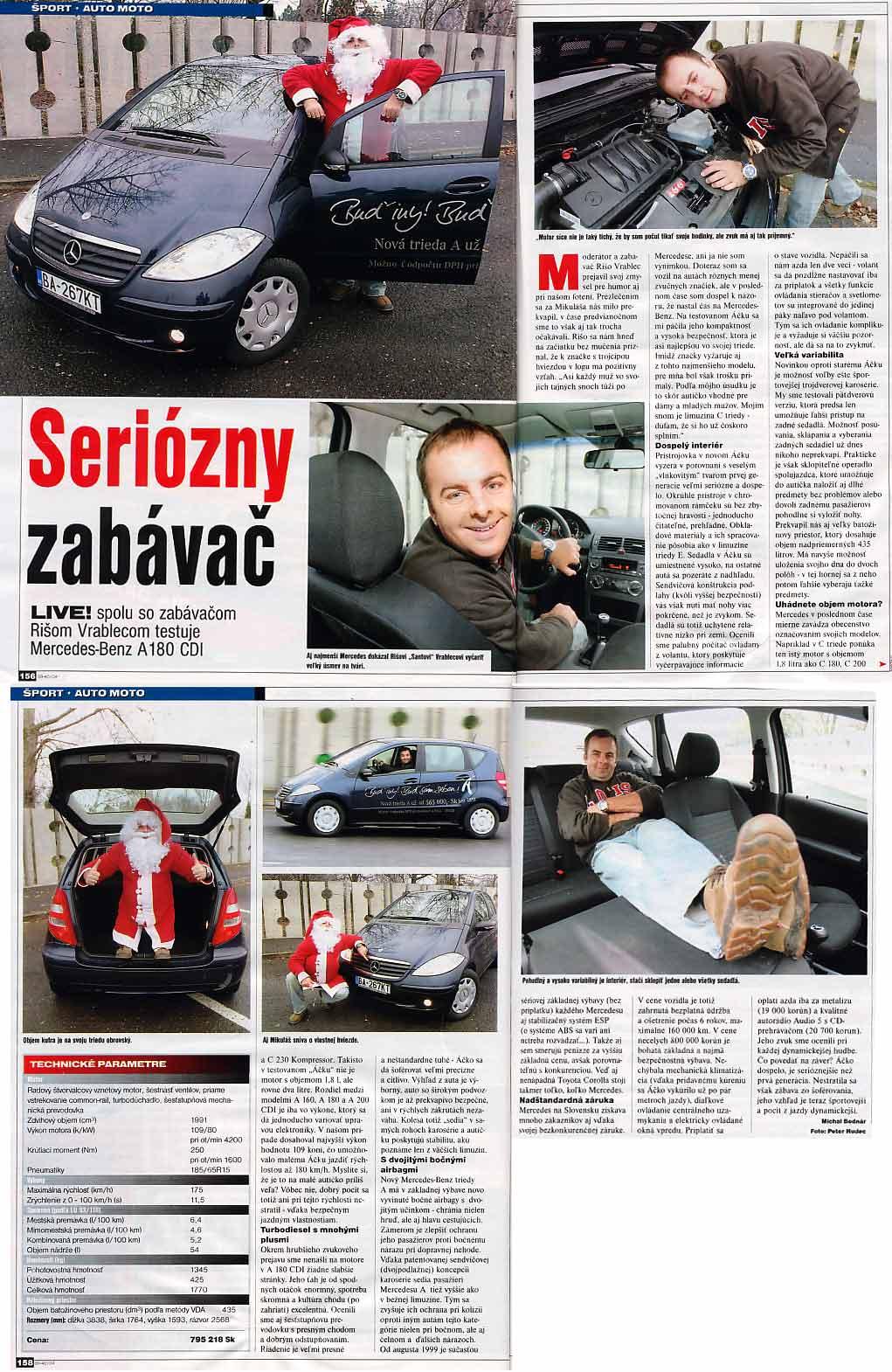 Magazín LIVE!, December 2004: Seriózny zabávač