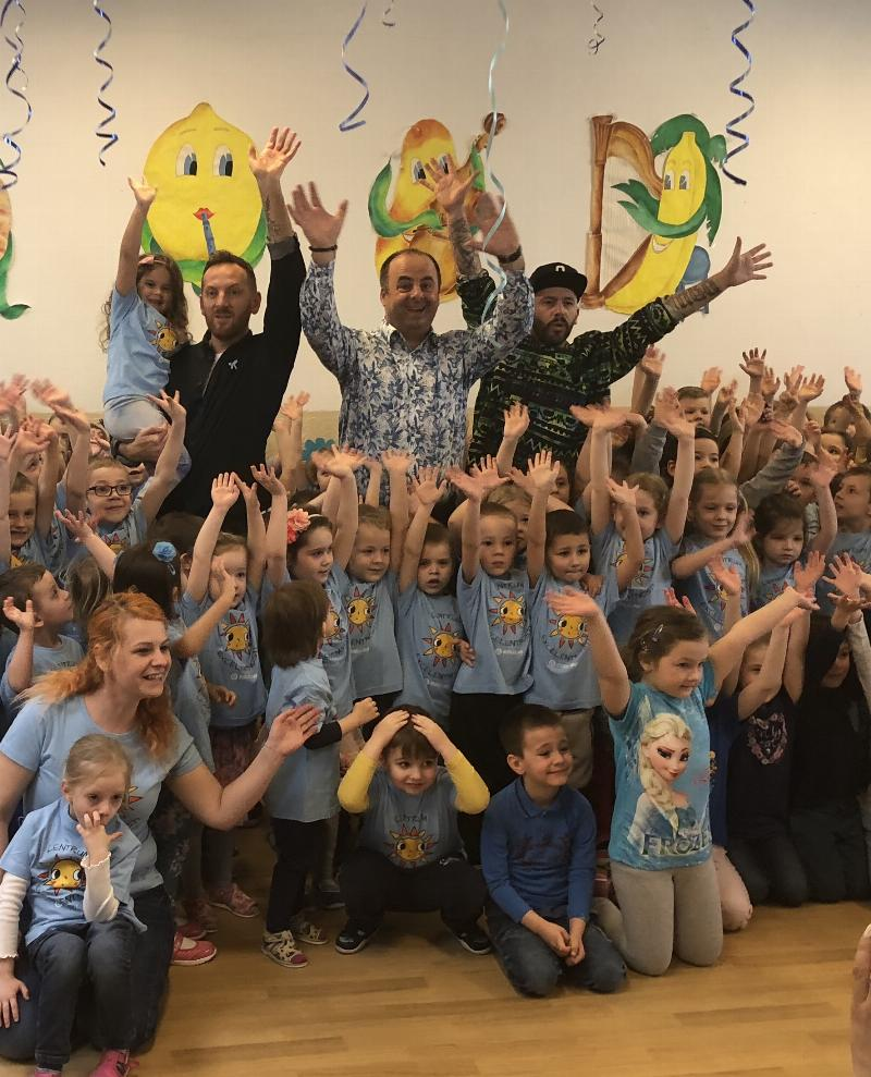 Modry den, podujatie na podporu deti s autizmom. 28.marec.2018 Bratislava